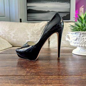 👠 RUPERT SANDERSON Platform Peep Toe Heels